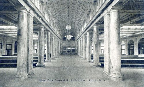 New York Central Railroad Station (Interior), Utica N.Y.